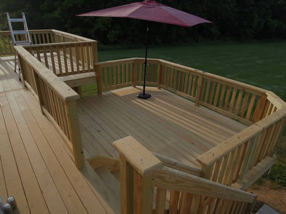 Pressure Treated Wood Deck Builders